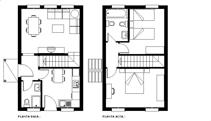 Viviendas unifamiliar dimensiones y superficies for Medidas minimas de una casa